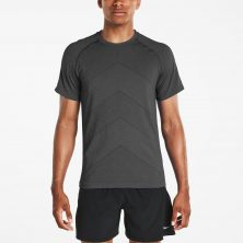 DASH SEAMLESS SHORT SLEEVE CARBON HEATHER - Saucony